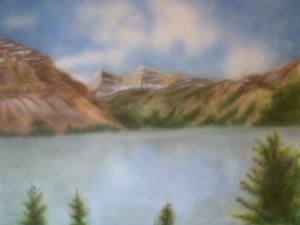 Berglandschap met meertje